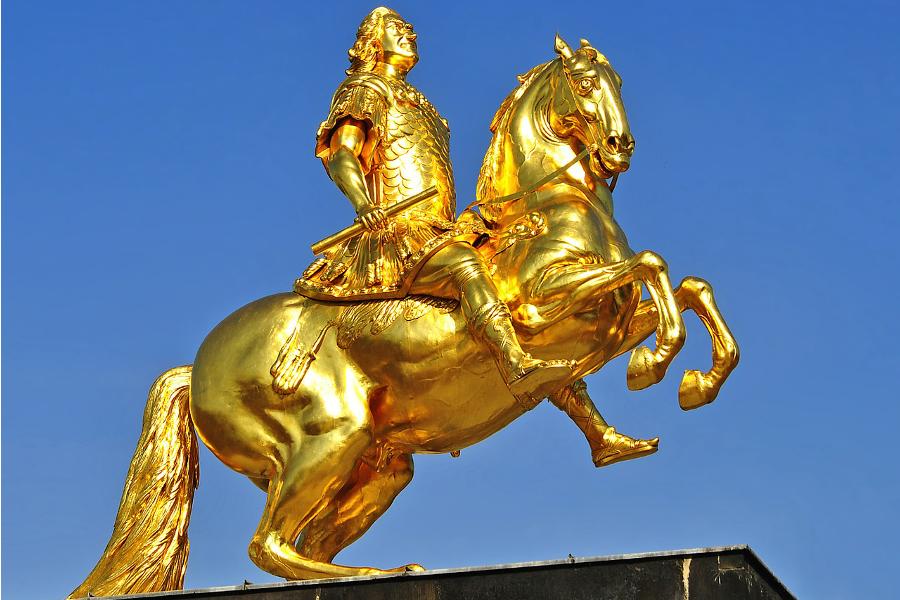 Goldener Reiter Dresden Hauptstrasse Dresden