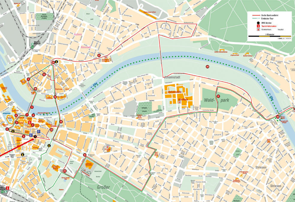 dresden karte pdf Stadtplan Dresden | Route Stadtrundfahrt Dresden